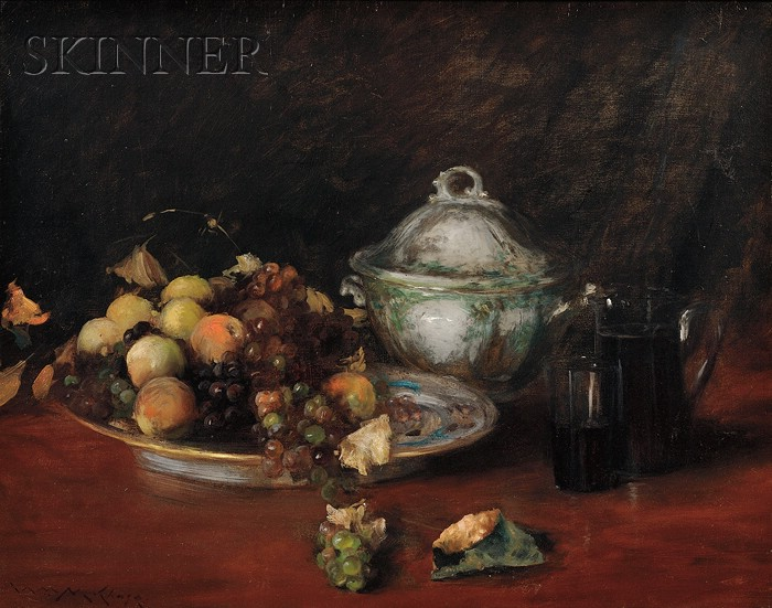 William Merritt Chase (American, 1849-1916)      Still Life: Fruit