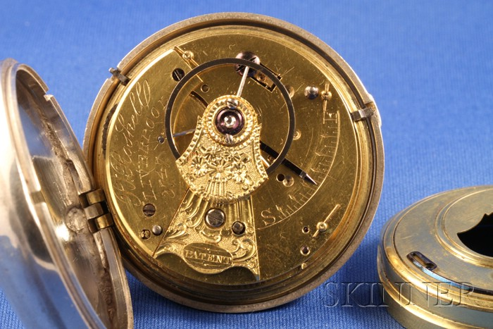Silver Pair Cased Rack Lever Watch by Robert Roskell