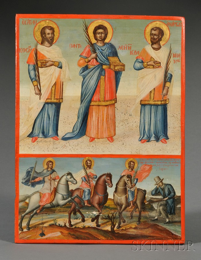 Greek Icon in Two Parts