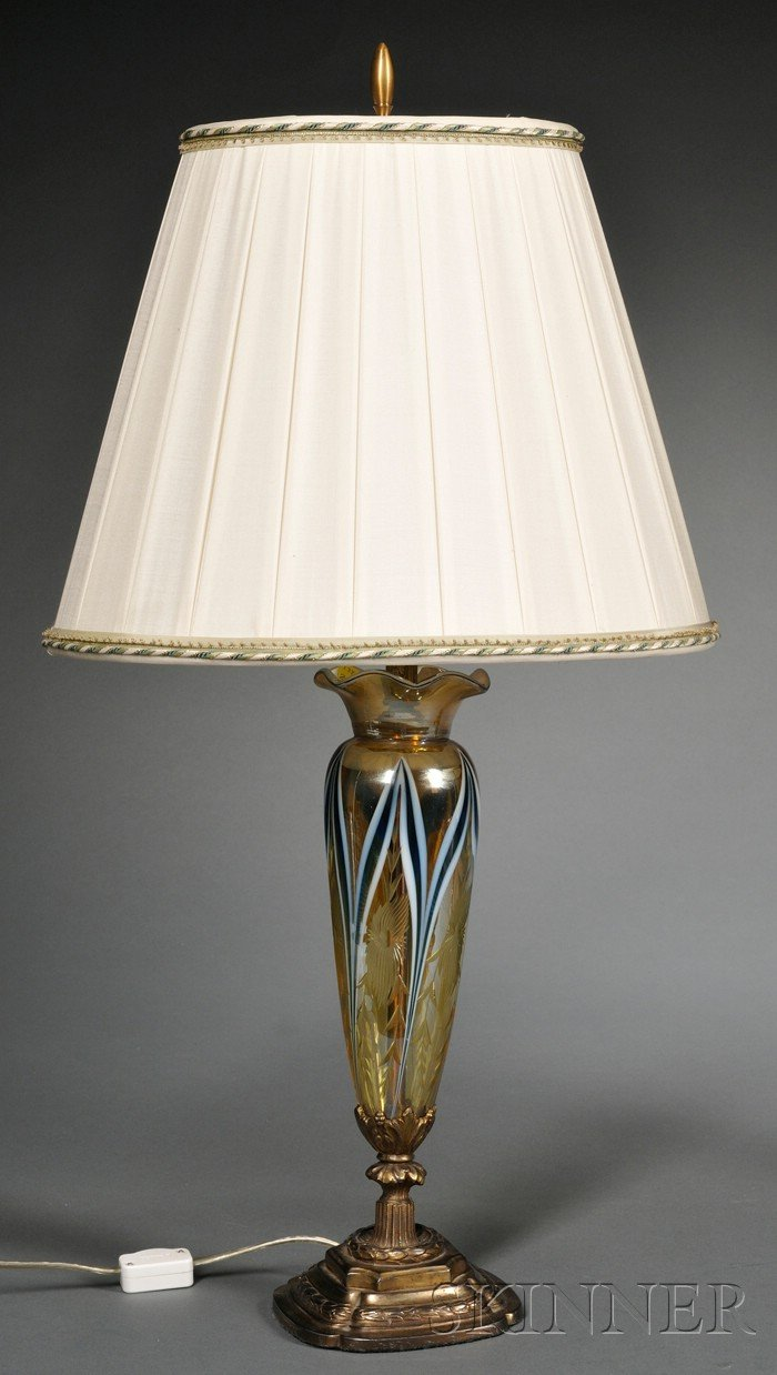Durand Cut Glass Table Lamp Base