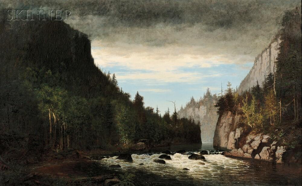 John Joseph Enneking (American, 1841-1916)      Storm in the Adirondacks