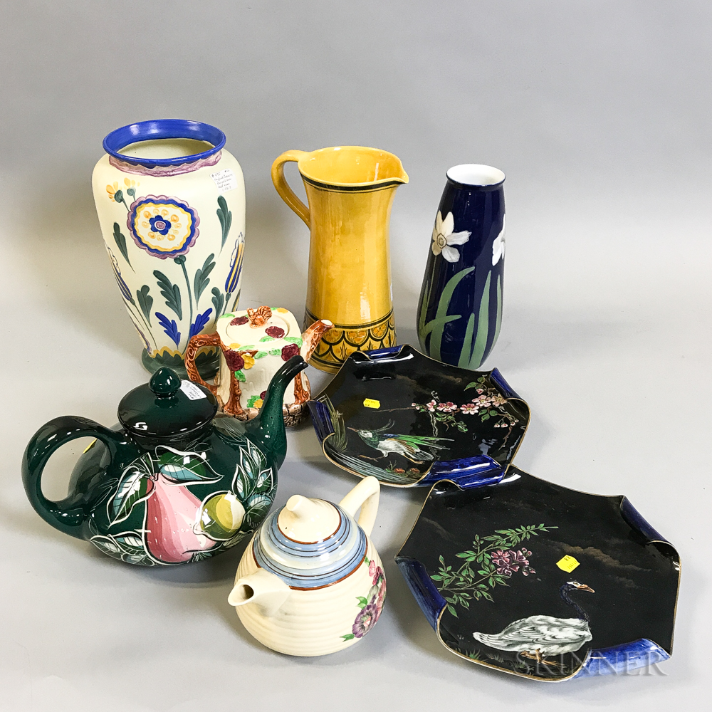 Eight English and Continental Ceramic Items