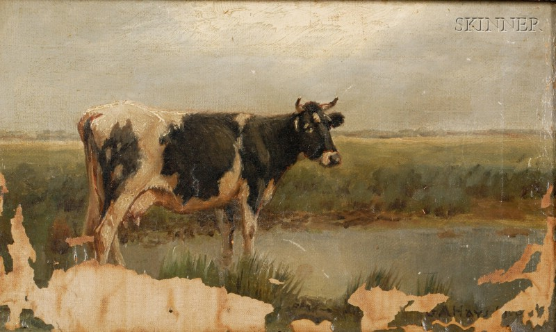 George Arthur Hays (American, 1854-1945)      Cow in Landscape