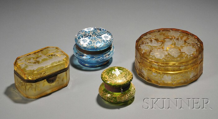 Four Art Nouveau Containers