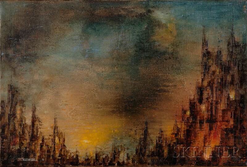 Leonardo M. Nierman (American, b. 1932)      Cityscape