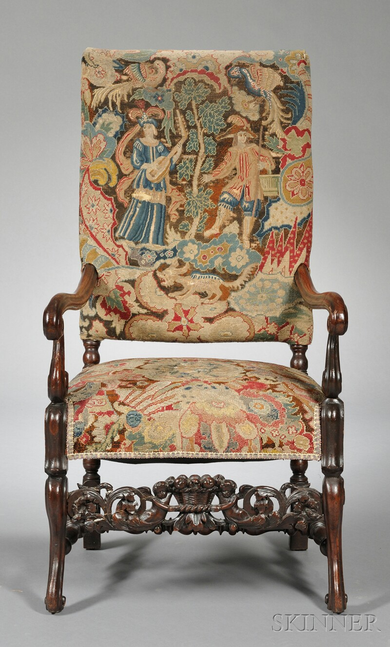Tapestry-upholstered Armchair