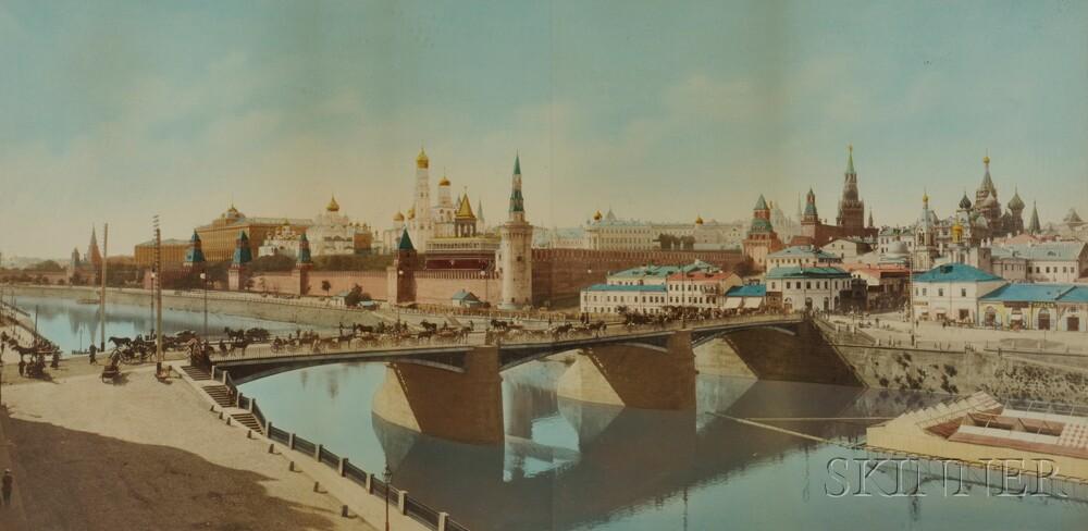 Hand-tinted Panoramic Photograph of the Kremlin