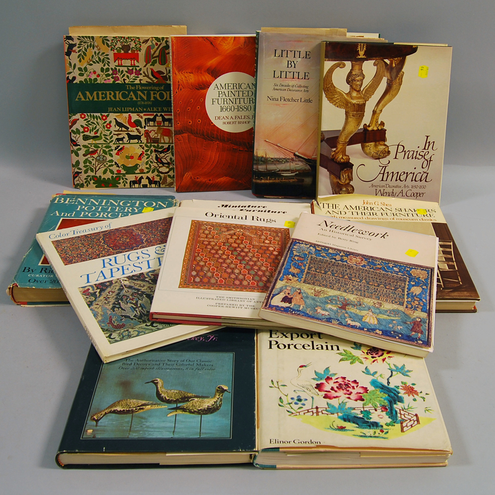 Twelve American Decorative Arts Reference Books