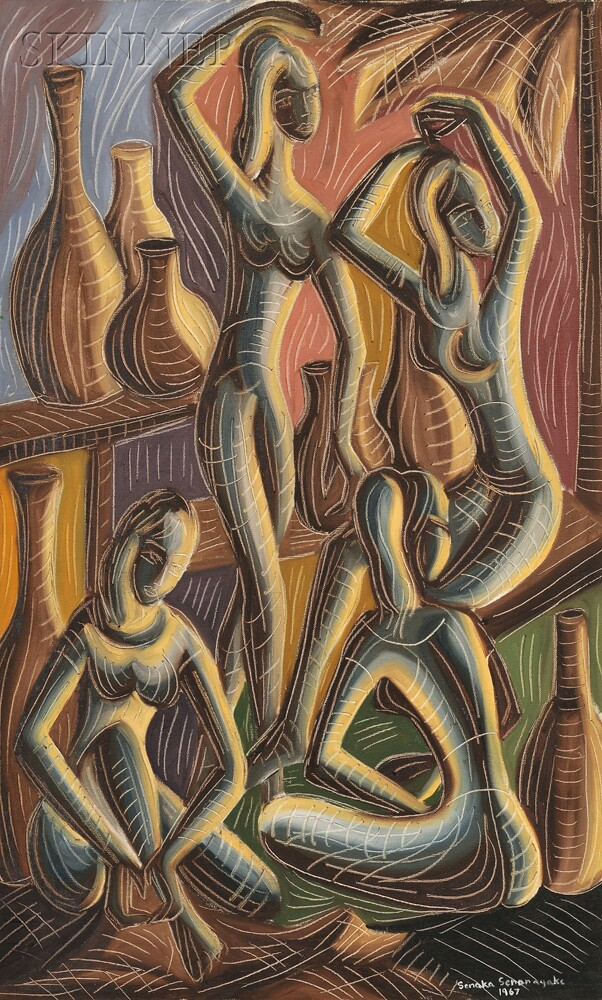 Senaka Senanayake (Sri Lankan, b. 1951)      Four Female Figures