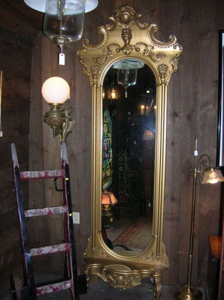 Gold Painted Victorian Pier Mirror