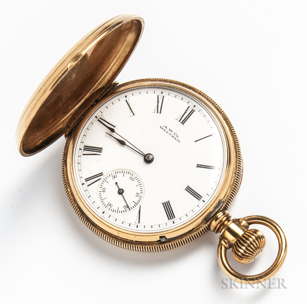 14kt Gold Waltham Hunter-case Pocket Watch