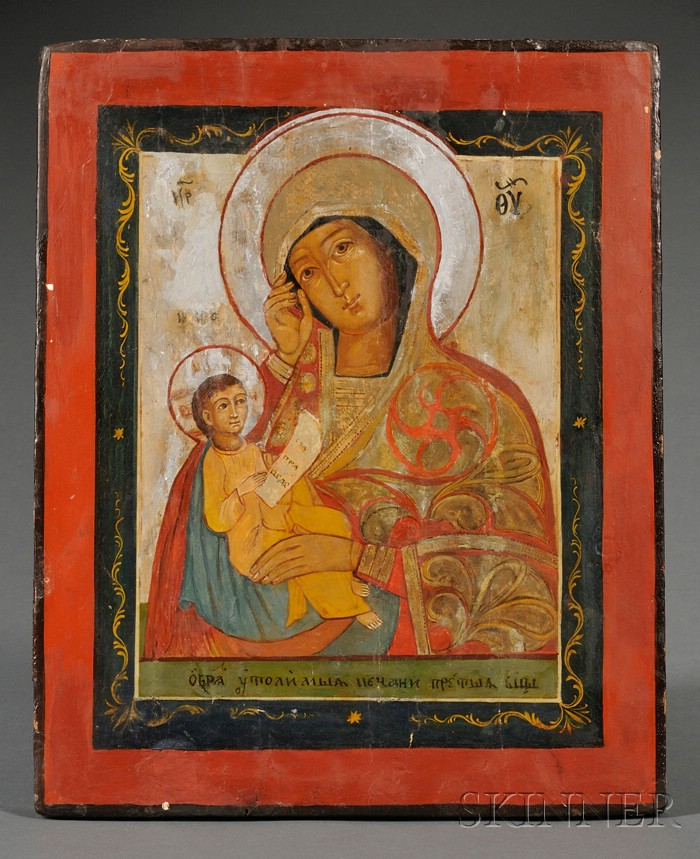 Russian Icon Soothe My Sorrow, Mother of God