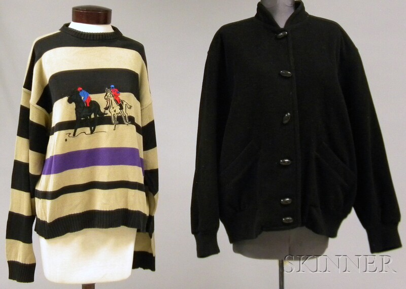 "Vintage Mondi ""Hunting"" Jacket and a Daniel Hechter Paris Equestrian Sweater"
