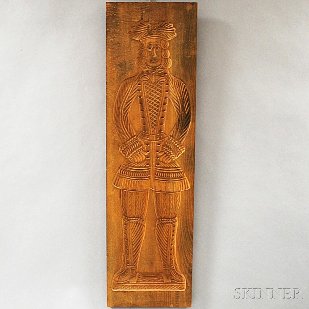 Large Carved Wooden Figural Mold