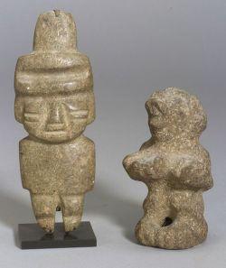 Two Pre-Columbian Stone Figures
