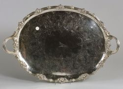 Large Silverplated Tea Tray