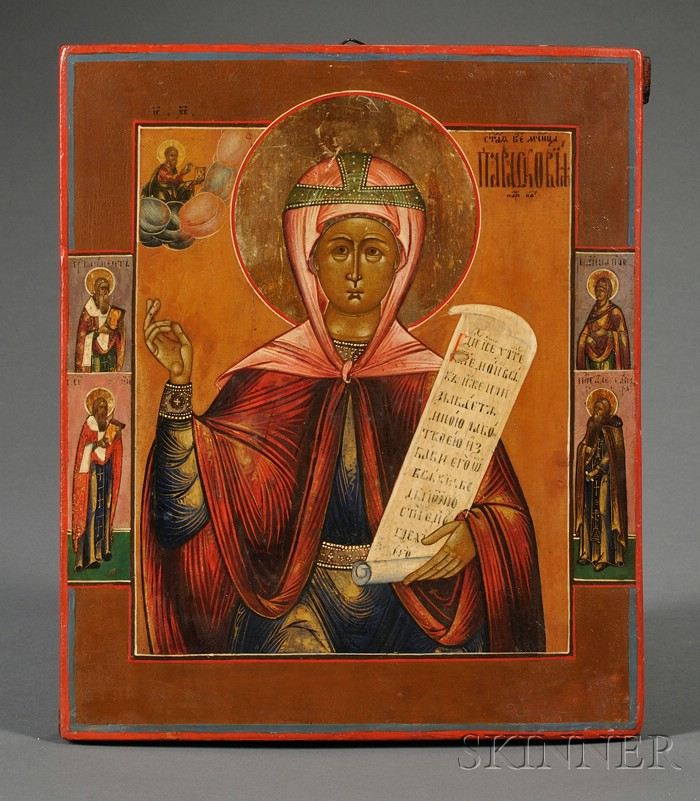 Russian Icon of Saint Paraskeva