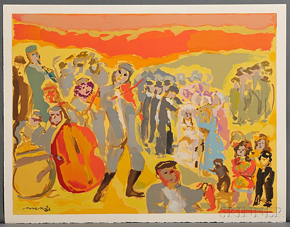 Mane-Katz, Emmanuel (1894-1962) Douze Lithographies pour Stempeniou de Cholem Aleikheim.