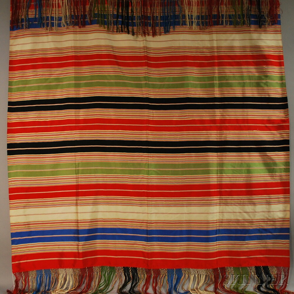 Three Fringed 20th Century Shawls