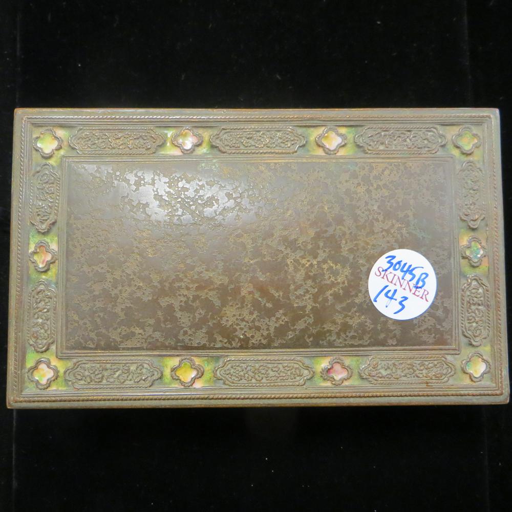 Louis C Tiffany Furnaces Enamel Box Sale Number 3045b