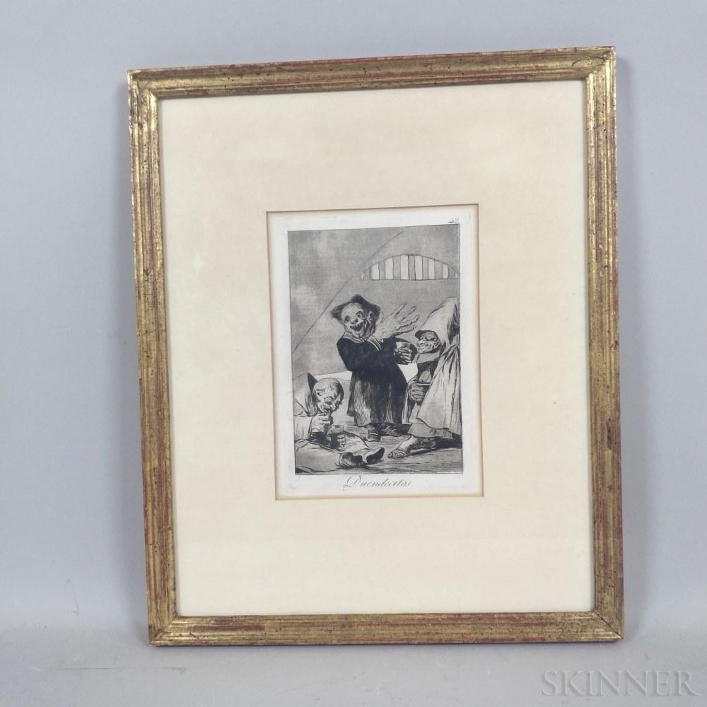 Francisco de Goya (Spanish, 1746-1828)      Duendectios  , Plate No. 49 from Los Caprichos