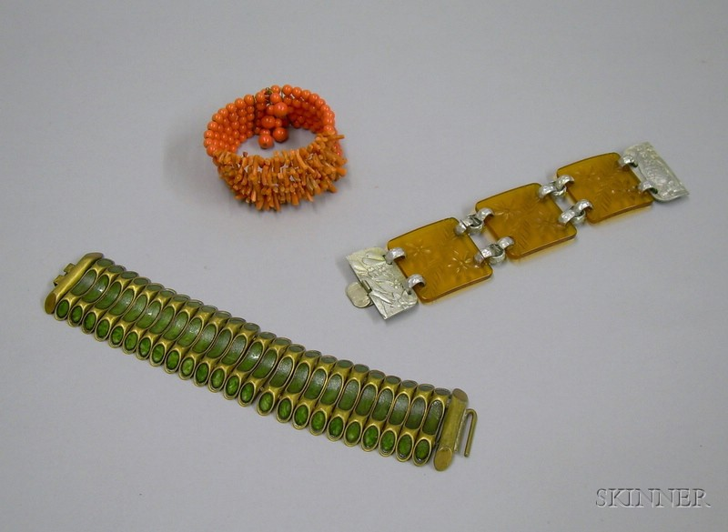 Three Late 19th/Early 20th Century Bracelets