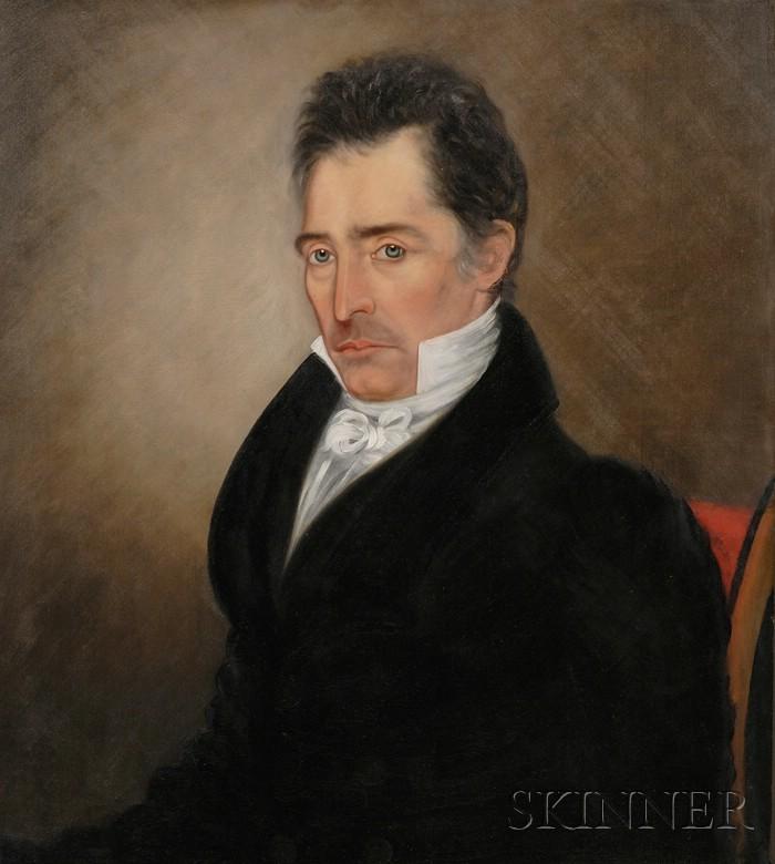 Ira Chaffee Goodell (Massachusetts, 1800-1875)      Portraits of Nathan and Freelove Drury.