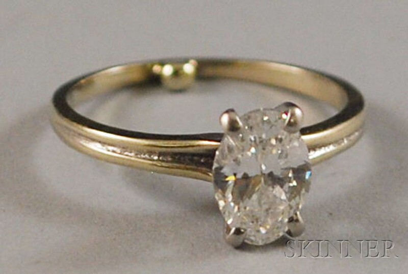 14kt White Gold Diamond Solitaire