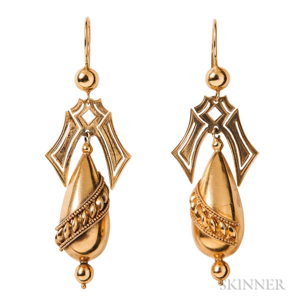 15kt Gold Drop Earrings