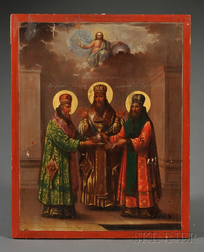 Greek Icon of the Three Holy Hierarchs