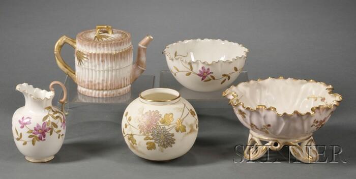 Five Pieces of American Belleek Tableware