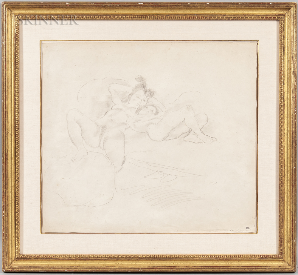 Jules Pascin (French, 1885-1930)      Encore Clara et Genevieve
