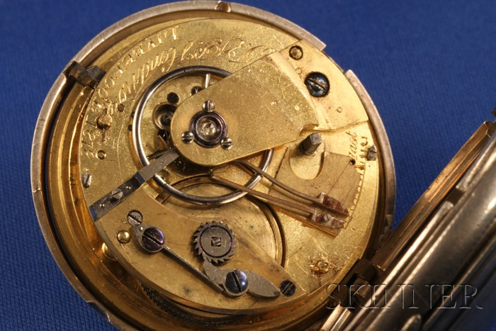 Silver Hunting Case Single Roller Lever Watch by J. & P. Hendricks