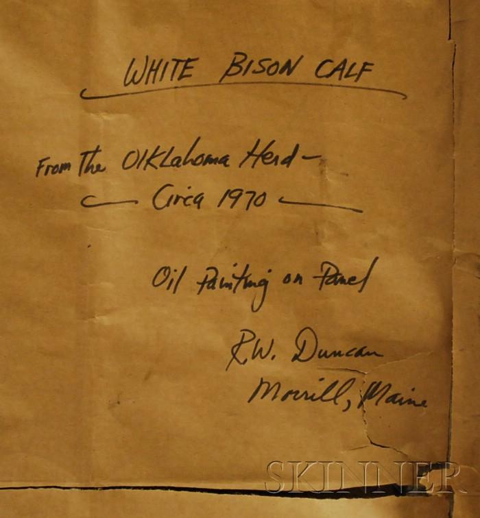 American School, 20th Century      White Bison Calf