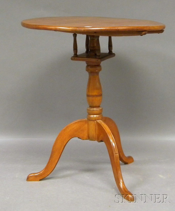 Cherry Tilt-top Birdcage Tea Table