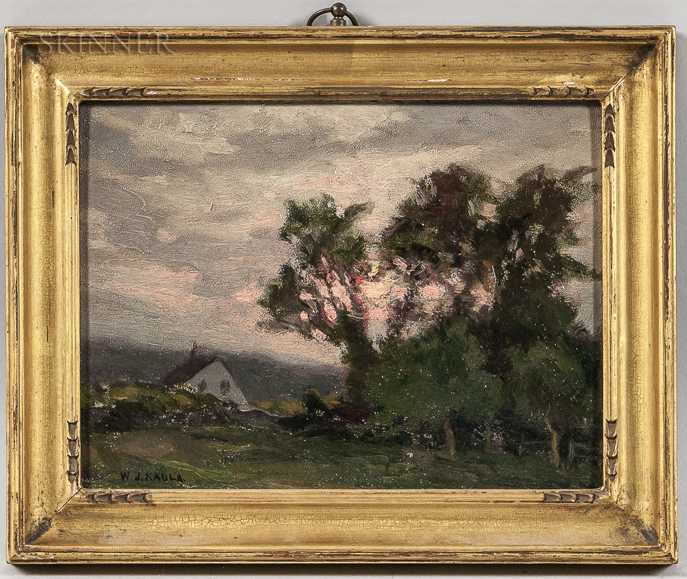 William Jurian Kaula (American, 1871-1953)      Cottage at Sunset