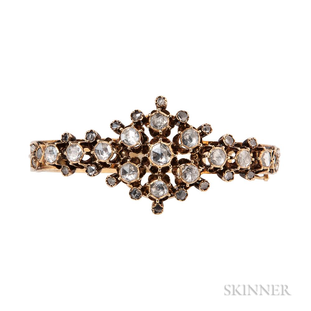18kt Gold and Rose-cut Diamond Bracelet