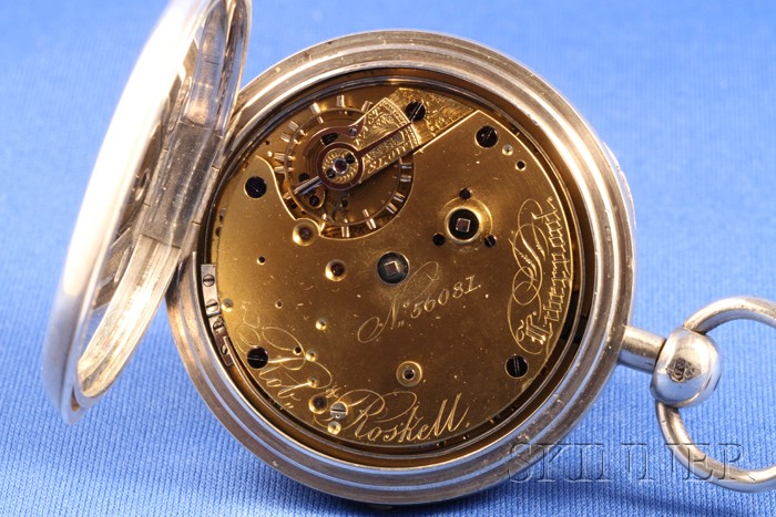 Silver Open Face Half-Quarter Repeating Watch by Robert Roskell