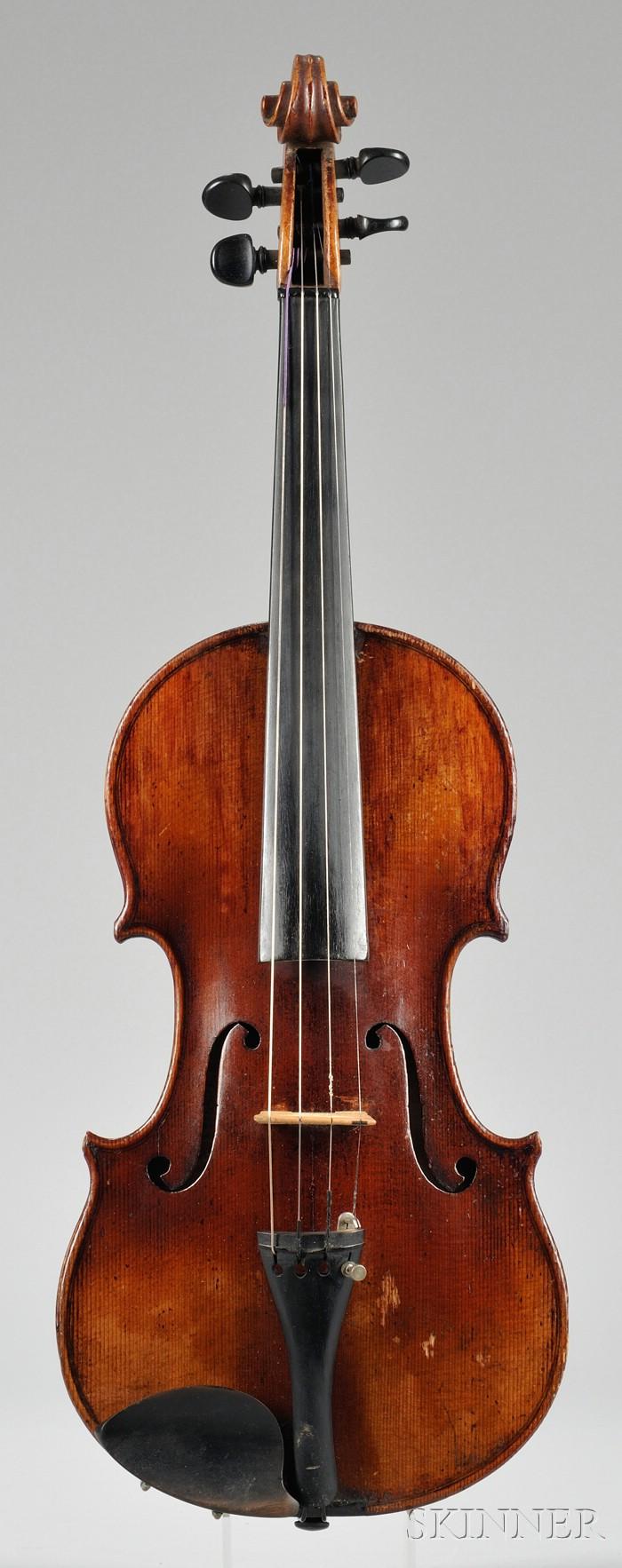 Markneukirchen Violin, Wilhelm Durrschmidt, c. 1920