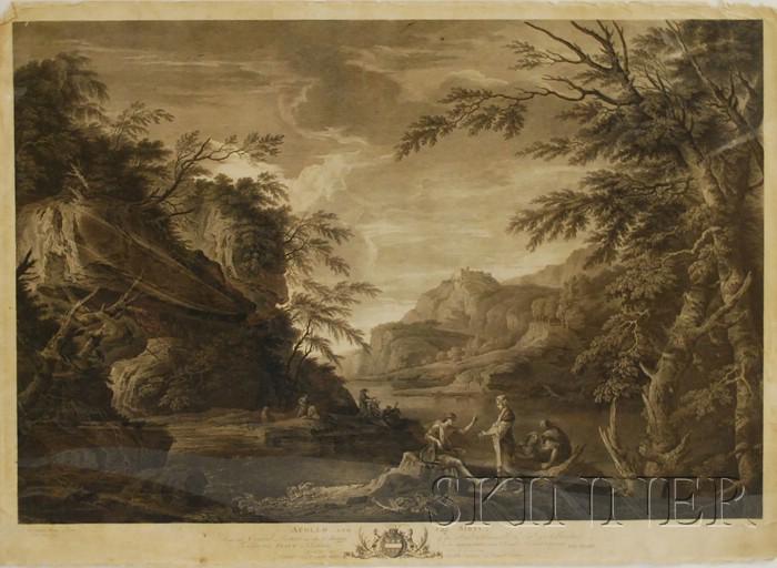 Continental School, 18th/19th Century Lot of Eight Biblical and Classical Roman Subject Prints: Percussit Saul mille et David decem ...