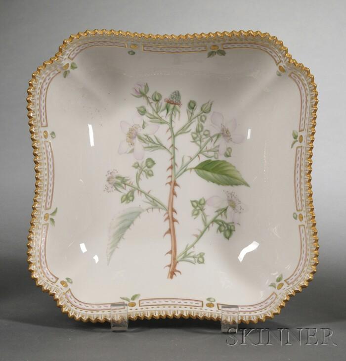 """Royal Copenhagen Porcelain """"Flora Danica"""" Serving Bowl"""