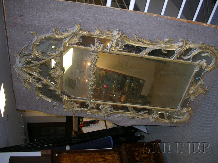 Large George III Chinese Chippendale Period Wall Mirror