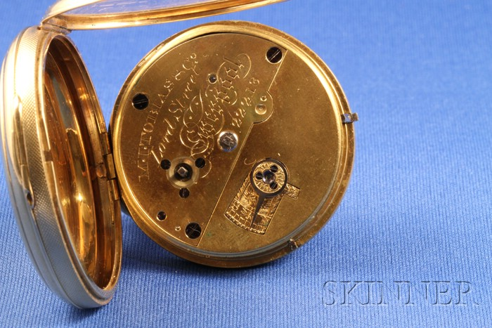 18k Gold Consular Case Massey Lever Watch by M. Tobias & Company