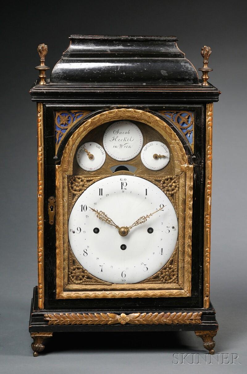 Viennese Ebonized Mantel Clock