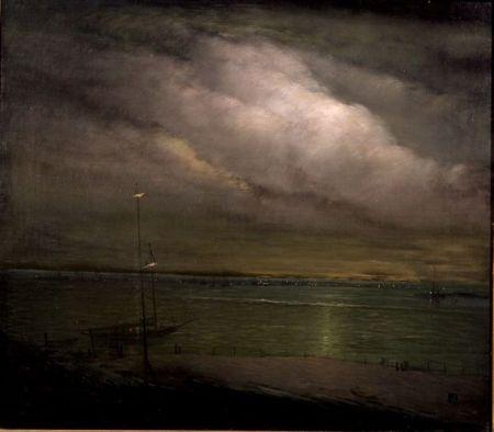 Leon Dabo (American, 1868-1960)    Night Shore, Long Island