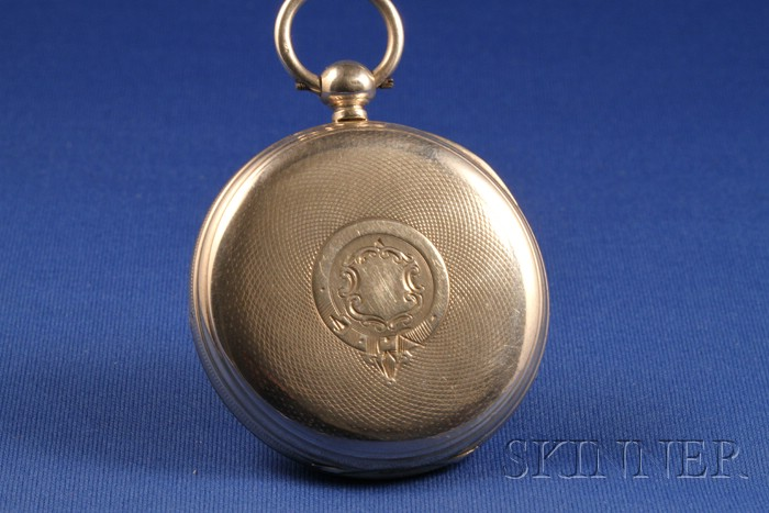 Silver Case Single Roller Lever Watch by J. D. Taylor