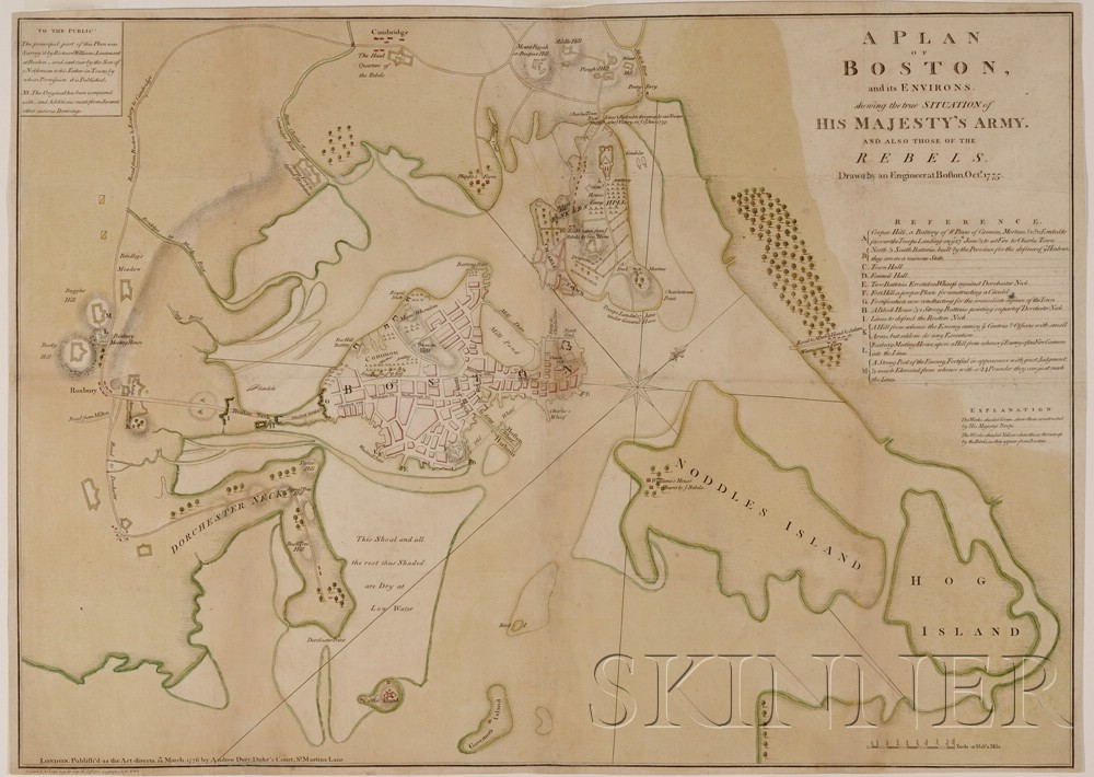 (Maps and Charts, Revolutionary War, Boston)