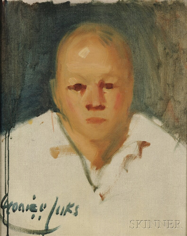 George Benjamin Luks (American, 1867-1933)      Portrait of a Clown Without Face Paint