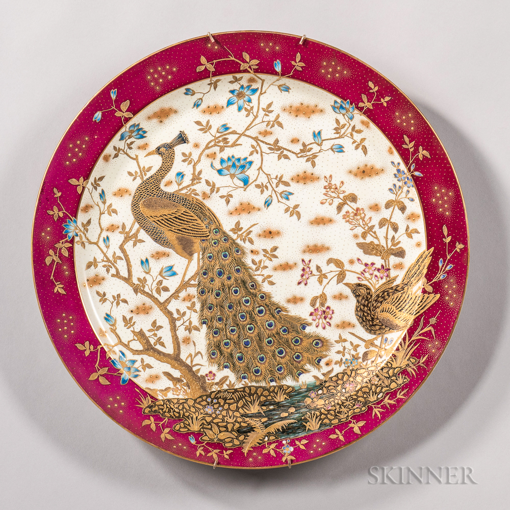 Hand-painted Porcelain Charger