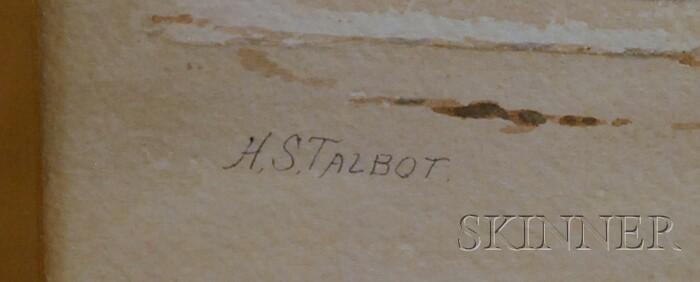 Henry S. Talbot (American, 1836-1924)      Waves on a Rocky Coast.